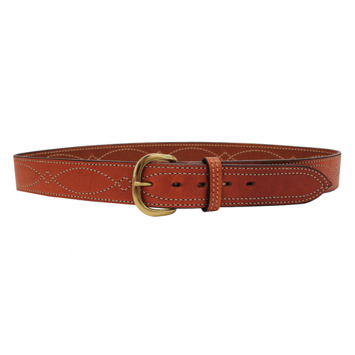 B9 Fancy Stitched Belt Tan 46""