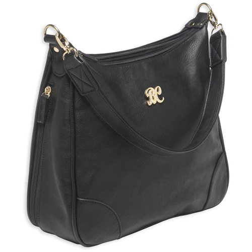 Hobo Style Purse w/Holster Blk/Blk