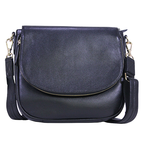 Drop Flap Front Satchel Cowhide