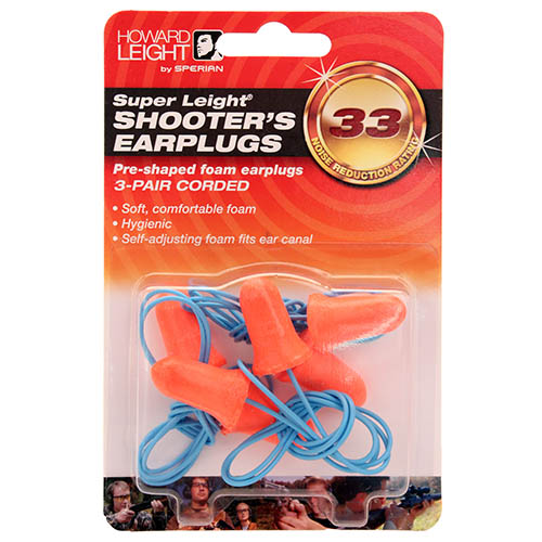 Super Leight corded-3 pair in blister pk