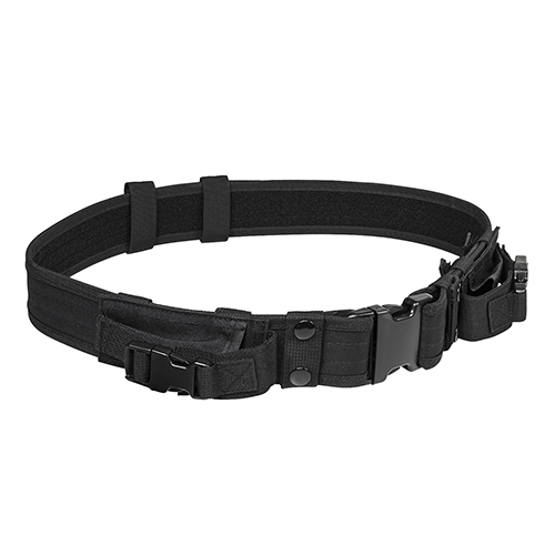 Vism Tactical Belt With Two Pouches/Black
