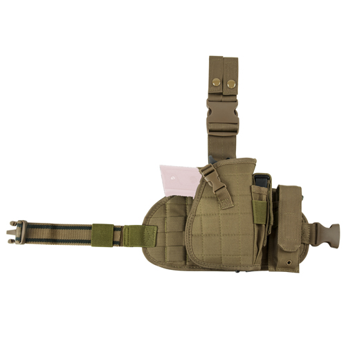 Drop Leg Holster + Panel + Mag Pouch -Tan