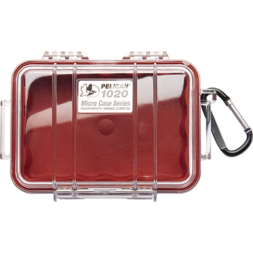 1020 Micro Case, Clear Top Red
