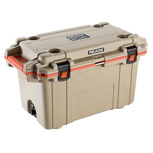 IM 70QT ELITE COOLER TAN/ORG