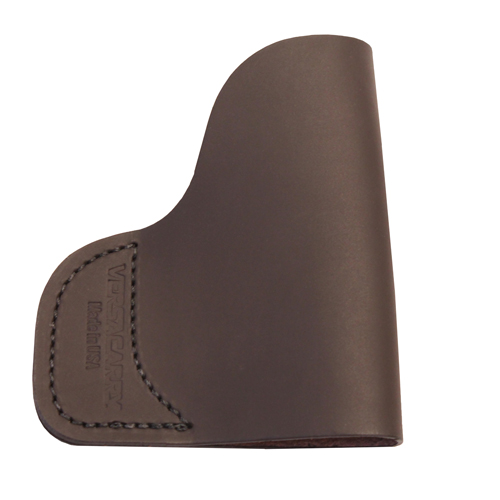 Leather Pocket Holster w/laser Brwn
